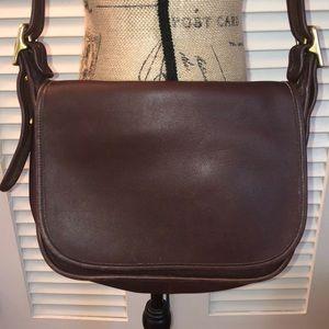 Coach - VTG brown leather Messenger Bag